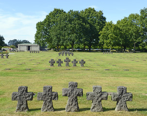 German Military Cemetery and Memorial at La Cambe in Normandy.