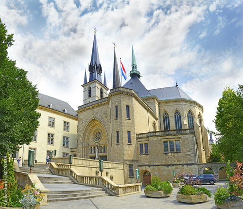 Cathedral of Luxembourg City, Grand Duchy of Luxembourg. UNESCO