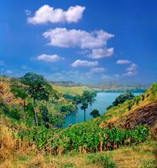 Bunyaruguru Crater Lake Field near Fort Portal. Western Uganda