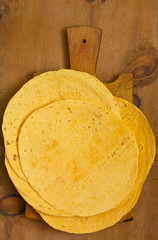 Stack of  Flour Tortillas