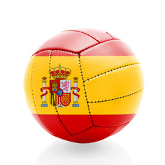 Spain soccer ball isolated on white background.