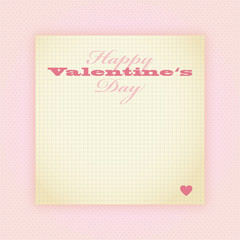 vintage notiz happy valentine's day