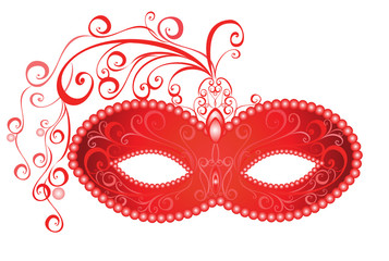 Venetian carnival mask. Vector illustration.