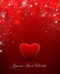 Coeur de Saint Valentin Carte etoile