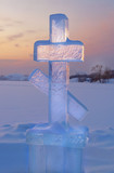 Ice cross at sunset