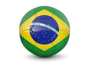 Brazil soccer ball 3d render