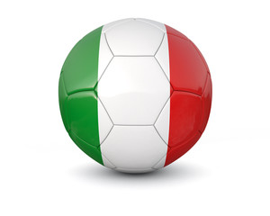 Italy soccer ball 3d render