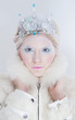 Snow queen beauty make up