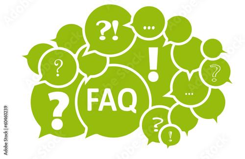 FAQ Fragen Frage - Vektor