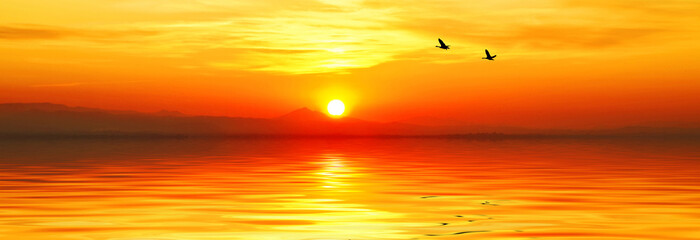 puesta de sol panoramica