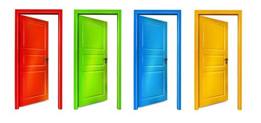 Bunte Türen