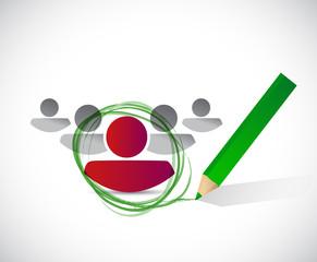 selected candidate illustration design