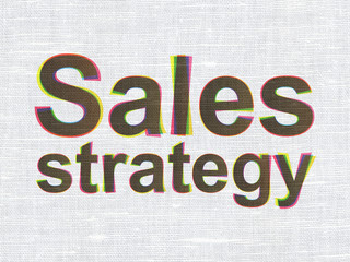 Marketing concept: Sales Strategy on fabric texture background