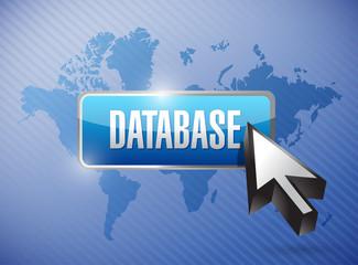 database button illustration design