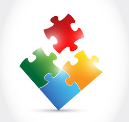 color puzzle illustration design