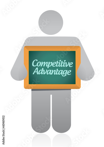 competitive advantage message illustration design