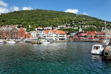 Blick auf den Hafen von Bergen