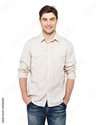 Portrait of happy handsome man in casuals