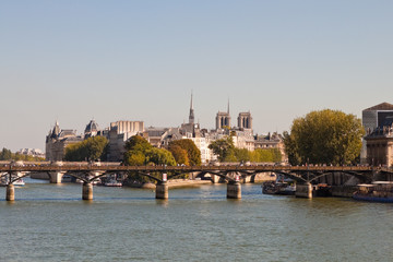 View of the Pont des Arts, Paris