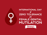 Day of Zero Tolerance for Female Genital Mutilation poster