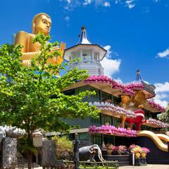 golden temple in Dambulla. landmarks of Sri lanka