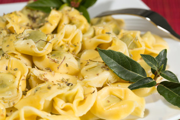 Tortellini stuffed with spinach