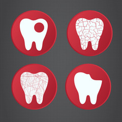 Dental symbols.  Medical icons.