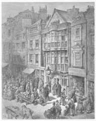 Bishopsgate Street - Gustave Dore's London: a Pilgrimage