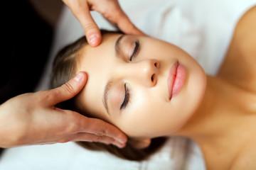 Woman enjoing a facial massage