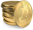 Bitcoin gestapelt