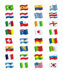 World Cup Flags 2014 Brazil