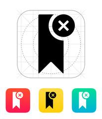 Remove bookmark icon.