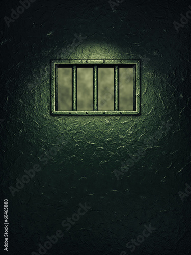 Prison cell door,barred window , Freedom