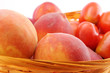 Peaches and tomatoes close-up