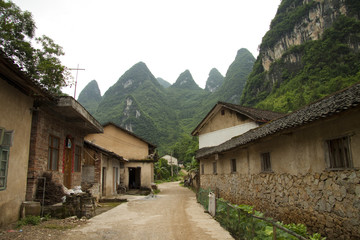 the village of xingping guangxi province china
