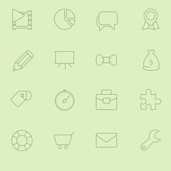 Thin SEO Icons Vol 2