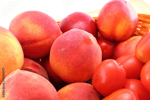 Peaches and tomatoes