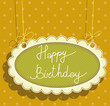 greeting card with happy birthday
