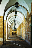 Arches of a passageway at the Temple mount in Jerusalem - 60467067