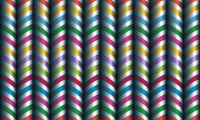 Vector seamless decor. Zigzag of satin ribbons