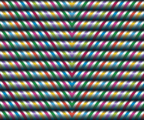 Vector seamless decor. Large zigzag of satin ribbons