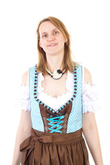 Blond woman wants to visit Bavarian Oktoberfest