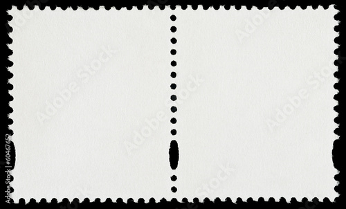 Pair of Blank Postage Stamps