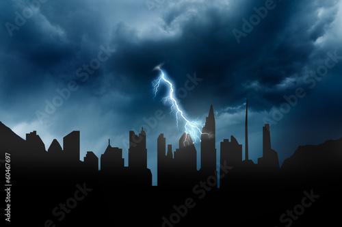 Leinwandbild Motiv bad weather