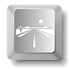Road. Vector computer key.