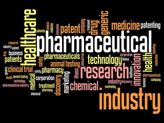 Pharmacy business - word cloud concept