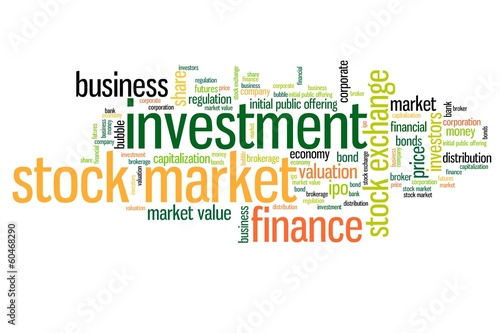 Stock market words - word cloud concept