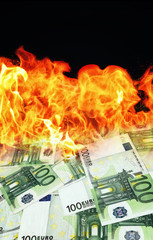 Money is burning