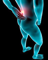 Uomo mal di schiena dolore raggi x muscoli