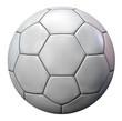 Blank White Football Ball